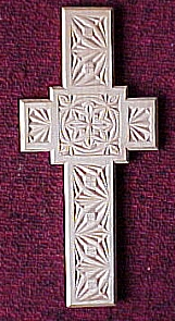 chip-carved cross
