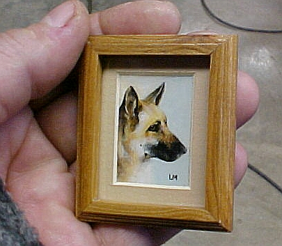 Miniature dog painting