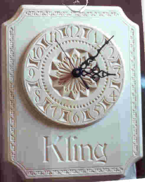 chip-carved clock