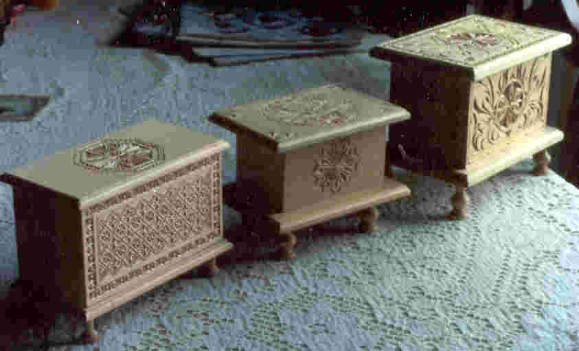 chip-carved music boxes