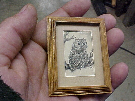 miniature owl drawing
