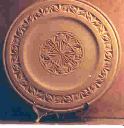 chip-carved plate