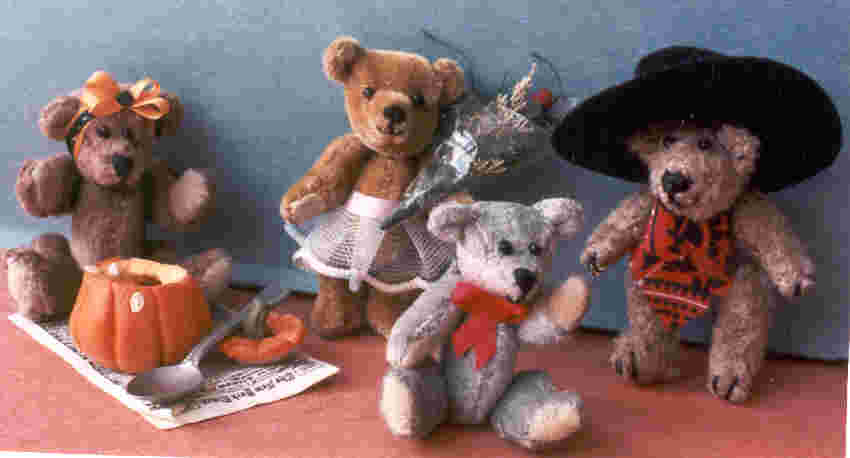 stuffed miniature jointed teddybears